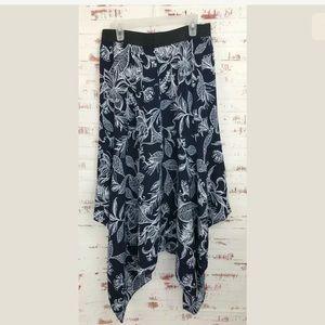 Laundry by Shelli Segal Floral Skirt Asymmetrical
